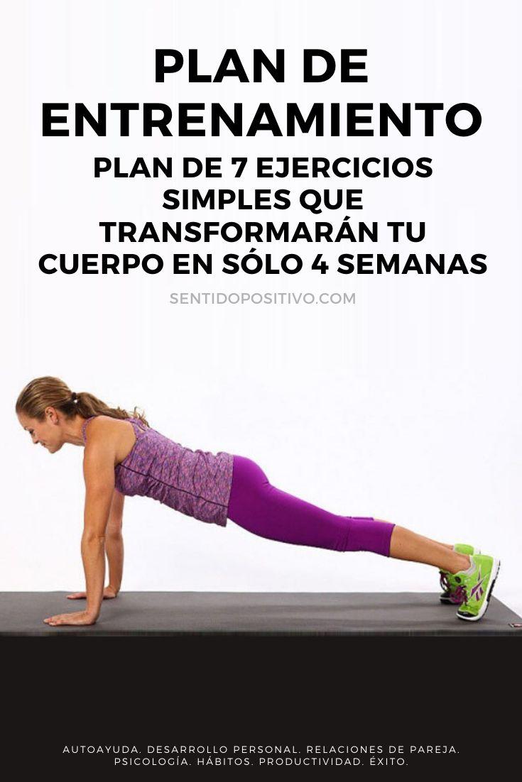 Plan de entrenamiento: Plan de 7 ejercicios simples que transformarán tu cuerpo en sólo 4 semanas
